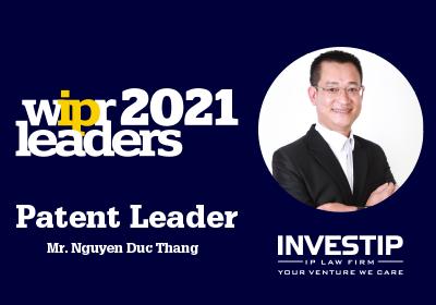 wipr patent leader 2021